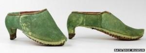 Primii pantofi cu toc persani