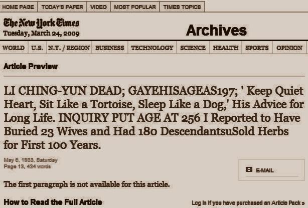 Articolul din ziarul The New York Timesc in care se vorbeste despre Li